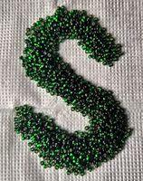 Бисер №57060, №10, Preciosa (Чехия), блестящий насыщенный зелёный, полупрозрачный