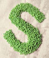 Бисер №58210, №10, Preciosa (Чехия), зеленый перламутровый, непрозрачный