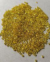 Бисер №87010, №10, Preciosa (Чехия), жёлто-лимонный блестящий, прозрачный