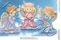 Ангелочки  БКР-3125 схема-рисунок на габардине для вышивки бисером