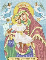 Богородица Достойно есть схема для вышивки бисером А4 - 095