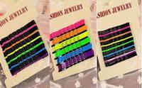 Набор невидимок разноцветные 24 шт волнистые стальные