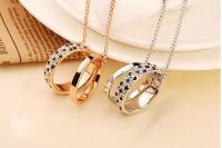 Цепочка с кулоном кольцо ювелирный металл