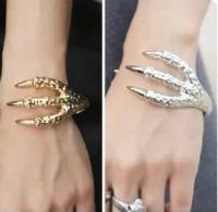 Браслет Птичья лапа ювелирный металл цвет серебро, золото