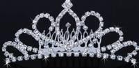 Корона Гребешок со стразами украшение для причесок