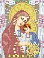 Божия Матерь Казанская схема для вышивки бисером А4 - 079