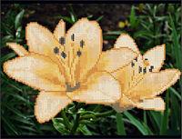 Лилии А4-086 схема для вышивания бисером