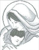 Мадонна с младенцем схема для вышивки бисером А4 - 052