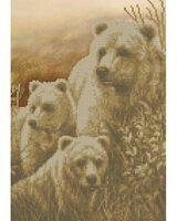 Медвежье семейство А4-218 схема вышивки бисером