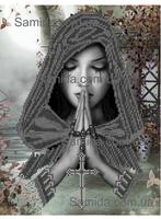 Молящаяся SA 3-41 схема с рисунком для вышивки бисером