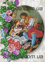 Пасторальная любовь схема вышивки бисером SA3 - 74