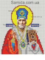 Святой Николай Чудотворец схема для вышивки бисером SAИ 5-13