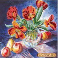 Натюрморт с тюльпанами, АС-059 схема для вышивания бисером на холсте