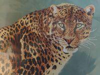 Взгляд леопарда схема для вышивки бисером А3-3173