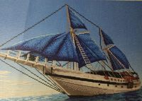 Яхта мечты схема для вышивания бисером А3-3430