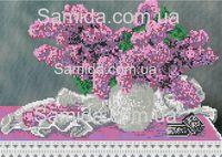 Сирень нежная в вазе схема вышивки бисером SA 3-73