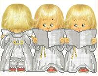 Три ангелочка схема для вышивки бисером А4-055