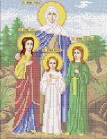 Вера, Надежда, Любовь и их мать София схема для вышивки бисером А4 - 108