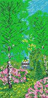 Природа. Весна SA 3-62 схема для вышивания бисером на ткани