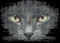 Всевидящий кот схема для вышивки бисером на ткани А3-47