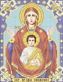 Божия Матерь Знамение схема для вышивки бисером А4 - 044
